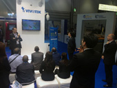 Alan Ataev, Global Sales Director at AxxonSoft, held a well-attended presentation at the Vivotek booth about Axxon Next 3.6